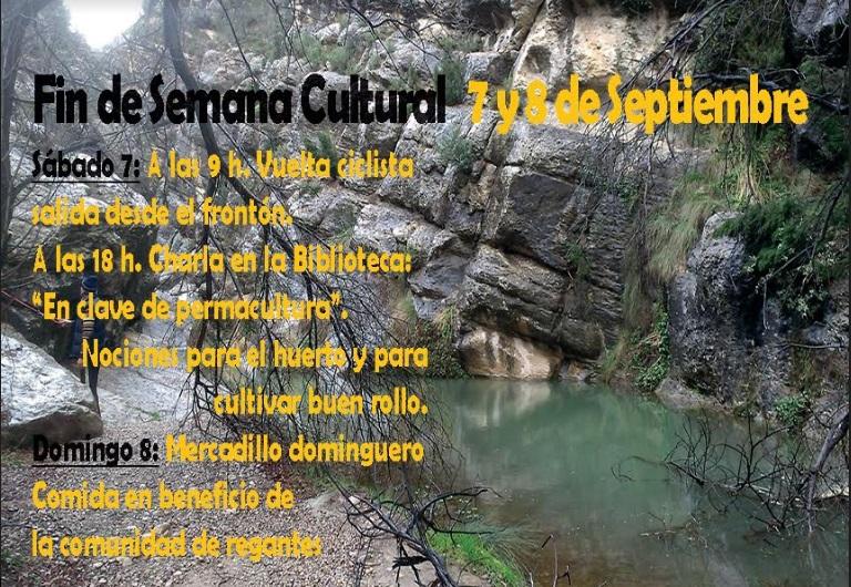 Fin de semana cultural 7 y 8 de Septiembre